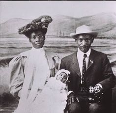 Families visited the Santa Monica Pier in their best finery to have a portrait taken. Pictured here are Selena McDonald Brunson and Charles E.A. Brunson holding their first born, Donald A. Brunson, the first African-American baby born in Santa Monica in 1907. Charles E.A. Brunson had a cleaning business in Santa Monica. He was an expressman at one time, then worked custodial service for two banks, one the Merchants Bank in Santa Monica.