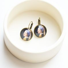 MASTERPIECES OF PAINTING Round earrings made from by OhKsushop