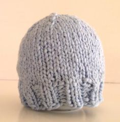 Organic cotton knit baby hat light blue newborn by spinningsheep for $22.00