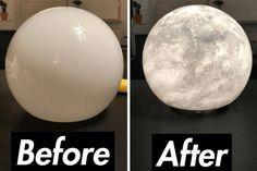 You know you want one. Moon lamp DIY.