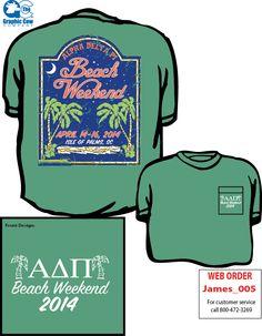 New Alpha Delta Pi Beach Weekend Shirt Design