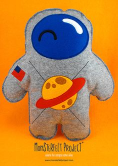 Monsterfelt Project bambola in pannolenci di MonsterfeltProject - Felt Monster Plush Toys