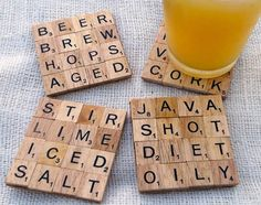 I'm doing this! I just need a Scrabble set... crafty-pants