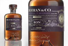 Appartement 103 - Botran&Co Rum # Design — World Packaging Design Society / 世界包裝設計社會 / Sociedad Mundial de Diseño de Empaques Wine Design, Bottle Design, Label Design, Package Design, Design Design, Graphic Design, Bottle Packaging, Bottle Labels, Brand Packaging