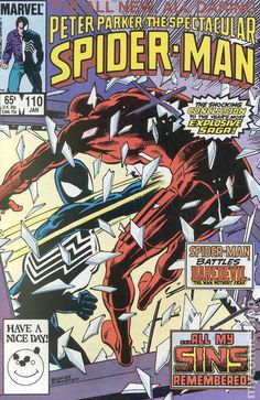 Spectacular Spider-Man (1976 1st Series) 110 Marvel Comics Peter Parker Comic book covers Super Heroes Villians Amazing Astonishing silver bronze modern age