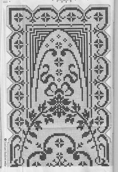 Filet crochet doily