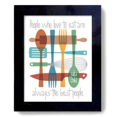Mid Century Modern Kitchen Art Decor Print Kitchen Decor by DexMex Mid Century Modern Kitchen, Mid Century Modern Art, Kitchen Wall Art, Kitchen Decor, Kitchen Ideas, Julia Child Quotes, Art Prints Quotes, Quote Art, Dining Room Art