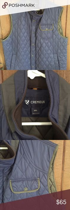 Cremieux men's blue and green vest XXL Cremieux men's blue and green vest XXL Daniel Cremieux Other