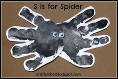 Craftulate: ABC Animal Handprints Spider