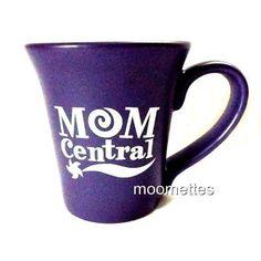 Stoneware Mug Mom Central Words Sayings Soup Purple Coffee Cup USA Large