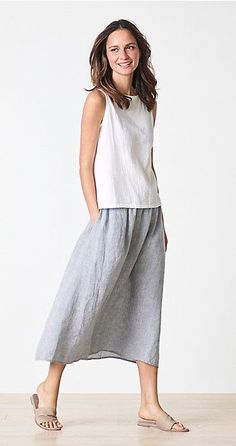 8d602138ee4 EILEEN FISHER Spring Icons Collection  Silk Shell + Wrap Pant