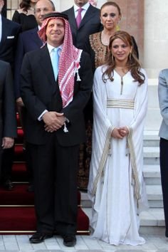 Prince Faisal of Jordan, brother of King Abdullah II, and his ex-wife Sarah at their wedding in Amman on 24 May 2010