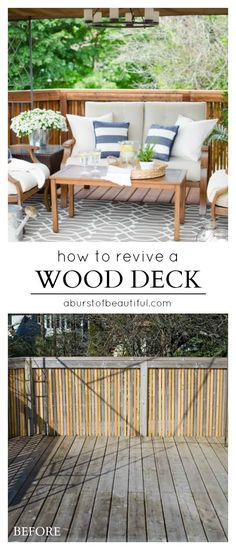 How To Revive A Wood Deck