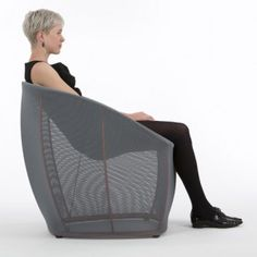 This armchair by London designer Benjamin Hubert weighs just three kilograms. Called Membrane, the chair by Benjamin Hubert for German brand Classicon comprises a steel and aluminium frame covered in mesh fabric. Unique Furniture, Contemporary Furniture, Furniture Design, Ikea Hacks, Sofas, Armchairs, Design Language, Higher Design, Innovation Design