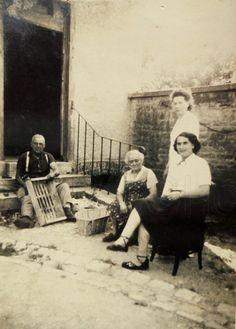 Vintage French Photo - Crate Making in the Backyard by ChicEtChoc on Etsy