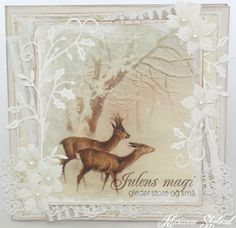 A christmas card by Marianne, featuring the Wintertime in Swedish Lapland collection