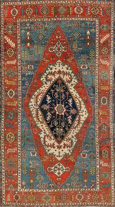 Persian Heriz Serapi rug, early 20th century