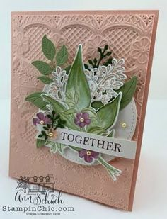 Watercolored Romantic Card for (The Stampin' Schach) Valentine Day Love, Valentines, Valentine Cards, Romantic Cards, Embossed Cards, Stamping Up Cards, Flower Cards, Anniversary Cards, Homemade Cards
