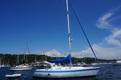 This 1983 Wauquiez Pretorien, a French designed and built bluewater racer-cruiser, is now for sale.The Wauquiez is known worldwide as a boat that is both fast and strong.The Pretorien layout combines a cleanly designed, flush deck for easy manoeuvring under sail and very little exterior maintenance