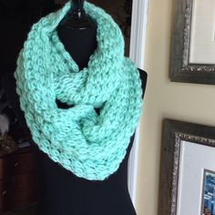 Knit Aqua Infinity Scarf Beautiful Color on this infinity scarf . Pretty shade of Aqua New with Tag. Rue 21 Accessories Scarves & Wraps