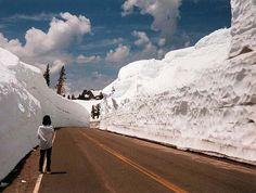 Amazing walls of #snow