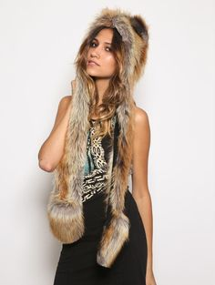 """PRIKID - SpiritHoods Red Fox, $124.00 (Limited)(http://prikid.eu/spirithoods-red-fox/)  Clever - Wise - Adaptable  People with the Fox spirit are extremely intelligent. Their perception and cunning makes them the masters of disguise. Fox spirits are able to observe a situation and move swiftly to acquire the desired outcome. Hence the term """"outfoxing"""" someone.   Hand made in the USA #redfox #fox #hood #hat #look #fashion #nice"""