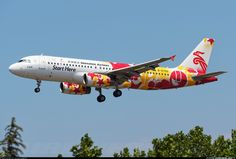 Shenzhen Airlines Airbus A320-232 B-6750 on final approach to Dalian-Zhoushuizi, July 2015. Special livery promoting the 2011 Summer Universiade that was held in Shenzhen. (Photo: dlsunshy)