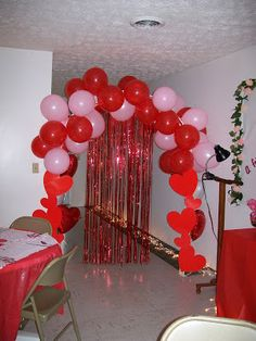 Valentines Dinner Church Decorations Laid Wedding Banquet Table