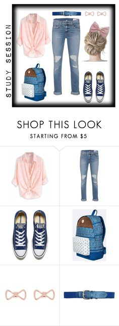 """""""Study Session"""" by salstan ❤ liked on Polyvore featuring rag & bone, Converse, Roxy, Ted Baker and Retrò"""