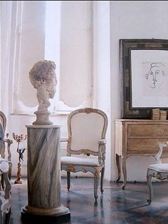 Cy Twombly's Rome house - 1966 - by Horst #thehighboystyle