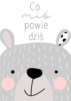 Graphic design for large and small - Ideas For Diy Illustration Mignonne, Cute Illustration, Nursery Prints, Nursery Art, Decoration Creche, Baby Posters, Baby Room Design, Kids Room Wall Art, Bear Art