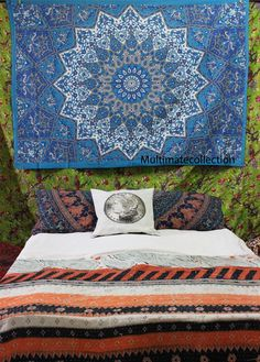 Blessing Psychedelic Star Twin Tapestry