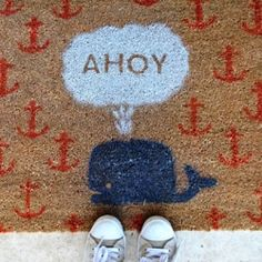 AGD you just need a template and you can spray paint it on to a rug, maybe add some acorns!