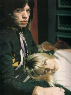 Mick Jagger and Anita Pallenberg in Performance directed by Donald Cammell and Nicolas Roeg -1970