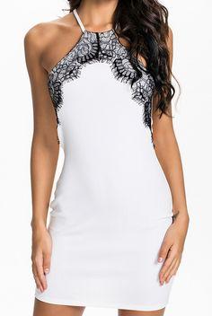 Off-shoulder Lace Bodycon Dress