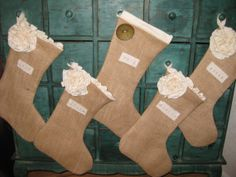 Christmas Stockings  Burlap by theBurlapBoutique on Etsy, $30.00