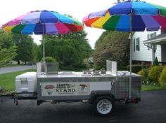 Custom home made hot dog cart