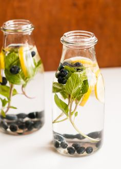 Infused water with berries and other fruits