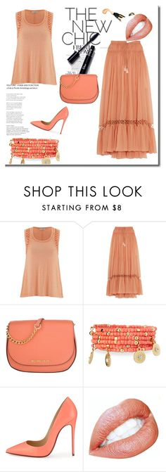 """set 87"" by nudzi-ded ❤ liked on Polyvore featuring maurices, Chloé, MICHAEL Michael Kors, Emily & Ashley and Christian Louboutin"