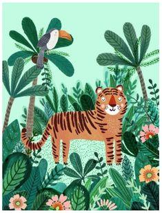 Poster Tigre 50x70 - Peek&Pack