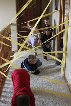 Star Wars birthday party obstacle course at Kara's Creative Place