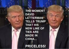 Trumps ties made in China.  He's busted!