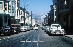 1960 San Francisco street and Golden Gate Bridge [via viewlinerltd.blogspot.com]