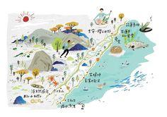 Illustrations for magazine on Behance Taiwan, Maps, Diagram, Behance, Magazine, Illustrations, Behavior, Magazines, Illustration