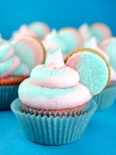 Cotton Candy Oreo Cupcakes for Target's A Bullseye View