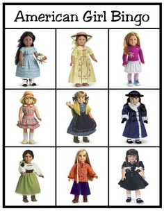 American Girl Bingo ~ A free printable activity for kids you can do as a family or at an American Girl party or birthday party.