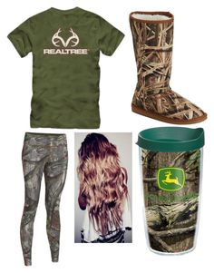 """""""Me this morning"""" by sinister-samurai ❤ liked on Polyvore featuring Dawgs, Under Armour, Realtree and Tervis"""