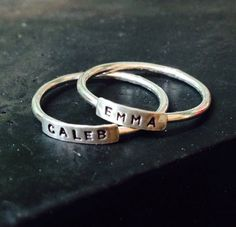 STACKIES custom made and personalized sterling by CommittedJewelry