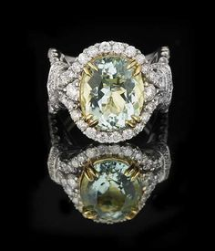 Lot: Aquamarine and Diamond Ring, Lot Number: 0035, Starting Bid: $2,400, Auctioneer: New Orleans Auction Galleries, Auction: Fine Jewelry, Furs & Accessories      , Date: November 18th, 2017 CET