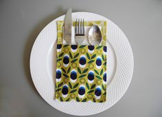 Set of 4 Graphic Patterned Cutlery Holders to Decorate Your Table for any Occasion by VanDijkDesigns on Etsy Cutlery Holder, Napkin Holders, Napkins, Table Decorations, Etsy, Towel Holder, Towels, Silverware Holder, Napkin